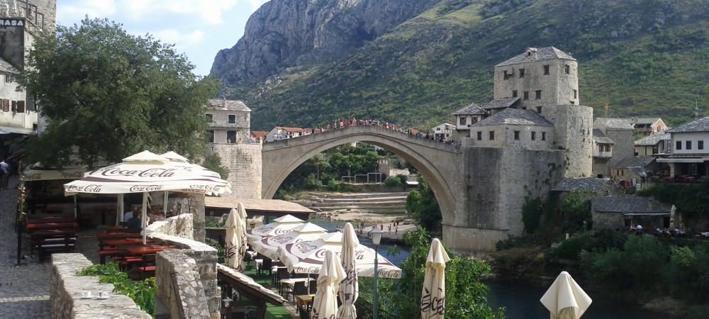 The old bridge in Mostar 5 min from the hotel.